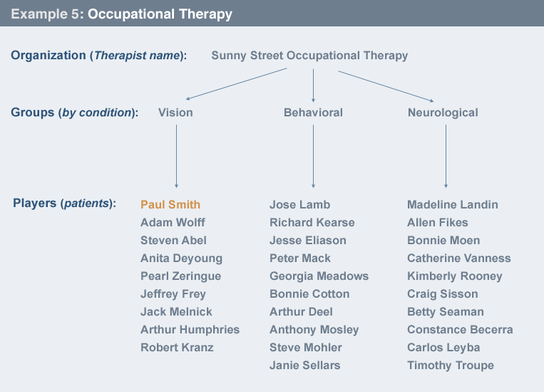 Example of occupational therapy relationship